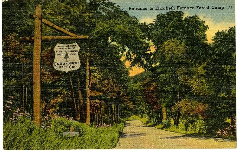 Entrance to Elizabeth Furnace Forest Camp