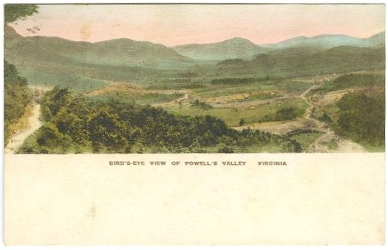 Bird's-Eye View of Powell's Valley Virginia