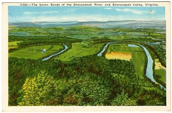The Seven Bends of the Shenandoah RIver and Shenandoah Valley, Virginia