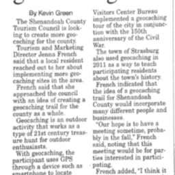 Tourism Council Looking Into Geocaching Trail July 22 2015 Northern Virginia Daily A3.pdf