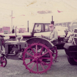Fred Kibler and Tractor
