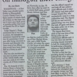 Vehicle thief sentenced on handgun theft charge August 1 2015 Northern Virginia Daily PA3.pdf