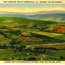 Airplane View of Sperryville VA., Showing the Lee Highway