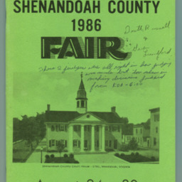 1986 Shenandoah County Fair Premium Book