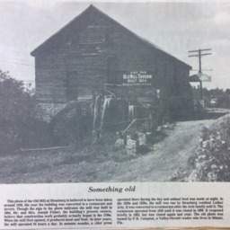 Something Old: Strasburg Mill