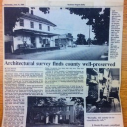 Architectural Survey finds county well-preserved June 16 1993 Northern Virginia Daily.pdf