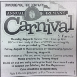 Ad Edinburg Vol. Fire Company Annual Carnival August 1 2015 Northern Virginia Daily A8.pdf