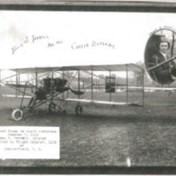 Frank J. Terrill and His Curtis Biplane