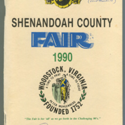 1990 Shenandoah County Fair Premium Book