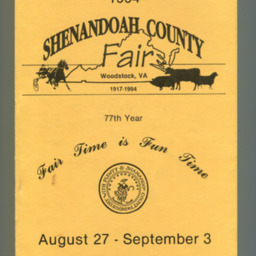 1994 Shenandoah County Fair Premium Book