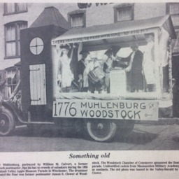 Something Old Woodstock Float 1925 Apple Blossom Parade, Shenandoah Valley Herald undated.pdf