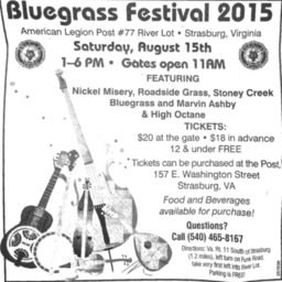Ad Bulegrass Festival 2015 American Legion Post #77 August 1 2015 Northern Virginia Daily A10.pdf