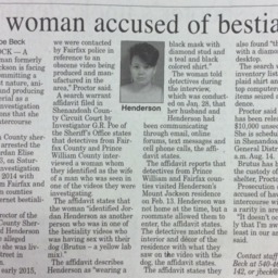 VA Woman Accused of Bestiality July 22 2015 Northern Virginia Daily A7.pdf