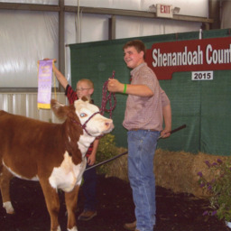 Jacob Coffey with Bonnie, Reserve Grand Champion