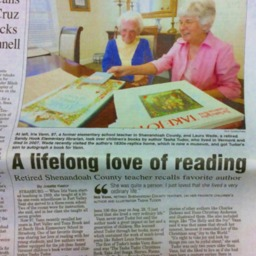 A lifelong love of reading Retired Shenandoah County teacher recalls favorite author July 27 2015 Northern Virginia Daily A1&A2.pdf