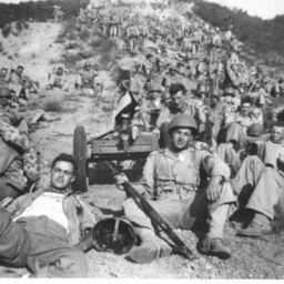 Large Group of Marines with Equipment
