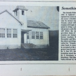 Something Old Oranda School, Shenandoah Valley Herald undated.pdf