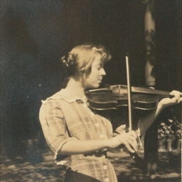 Unknown Woman Playing Violin