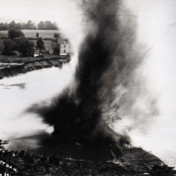 Dynamiting the Triplett Dam