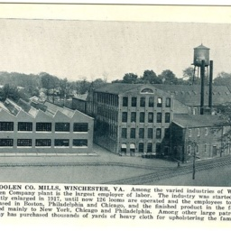 Virginia Woolen Co. Mills, Winchester, VA.