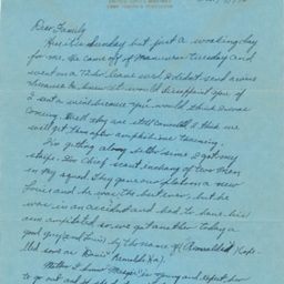 Letter to Duval and Mary Thelma Hines from Joseph M. Hines, USMC