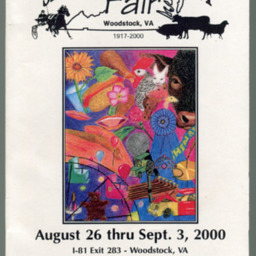 2000 Shenandoah County Fair Premium Book