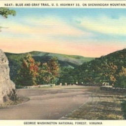 Blue and Gray Trail, US Highway 33 on Shenandoah Mountain
