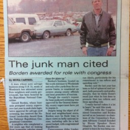 The junk man cited Borden awarded for role with congress August 1998 The Free Press