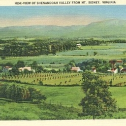 View of Shenandoah Valley from Mt. Sidney Virginia